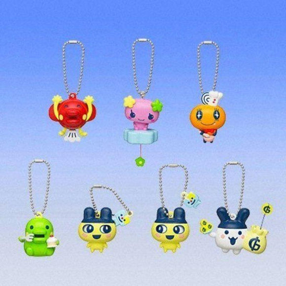 Bandai Tamagotchi Swinging With Playing Gashapon Figure Keychain (Set Of 6)