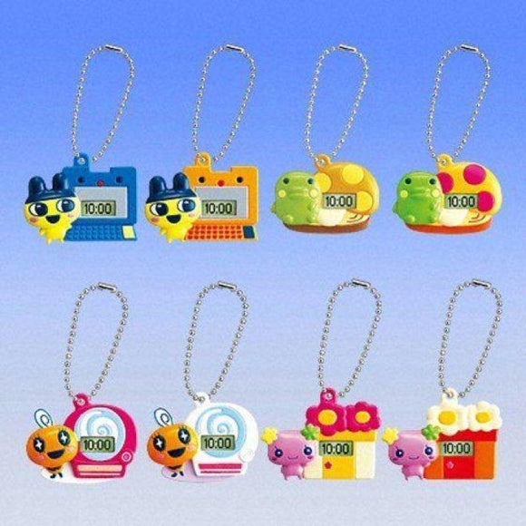 Bandai Tamagotchi Times Swing Time Clock Gashapon Figure Keychain (Set Of 8) - Gashapon