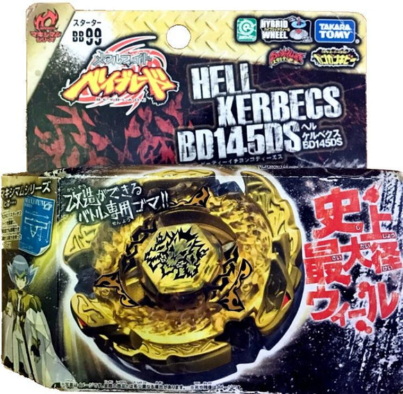 Takara TOMY 2010 Beyblade Metal Fight Fusion BB-99 Hell Kerbecs BD145DS