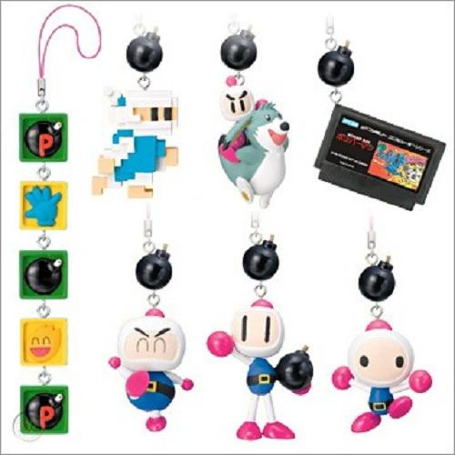 Yujin Nintendo Bomberman Land Character figure History phone strap (set of 8)