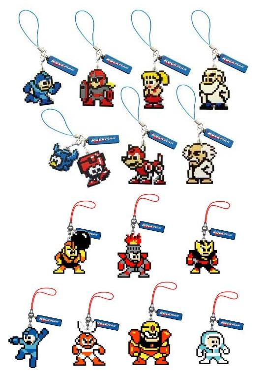 Union Creative Capcom Rockman Mega Man dot.strap collection (set of 14)
