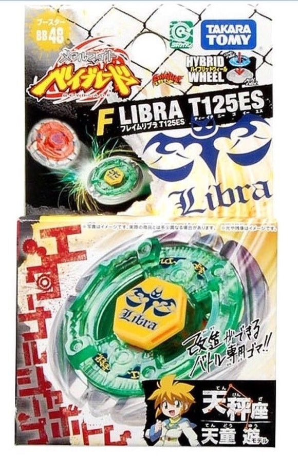 Takara Tomy 2009 Beyblade Metal Fight Fusion Bb-48 Flame Libra T125Es Booster Set - Misc