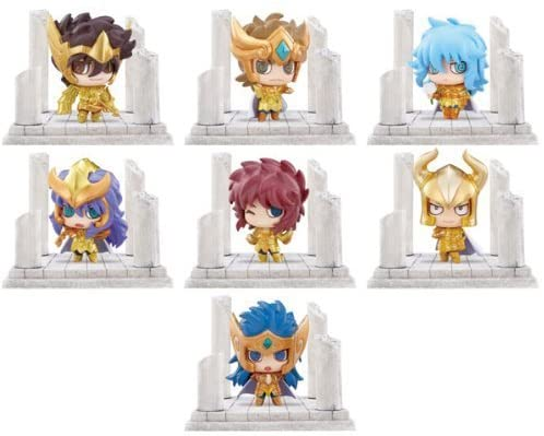 Megahouse Petit Chara Land Saint Seiya 12 Golden Temples 02 (set of 7)
