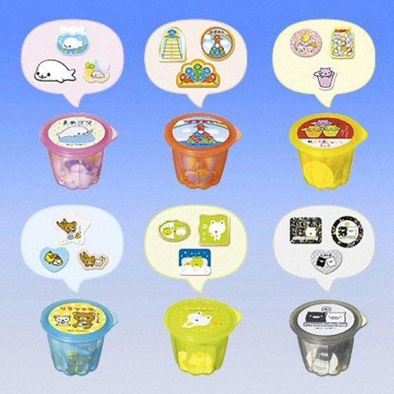 Bandai San-X Party Seal in jelly cup character stickers (set of 6) - DREAM Playhouse