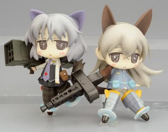 Kadokawa Phat Twin Pack+ Strike Witches Eila & Sanya figure + Telephone card