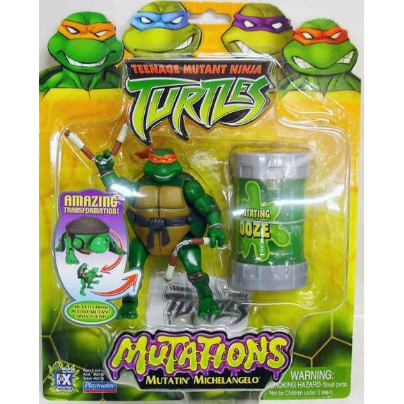 Playmates Tmnt 2003 Teenage Mutant Ninja Turtles Mutatin Mike Michelangelo Action Figure - Action Figure