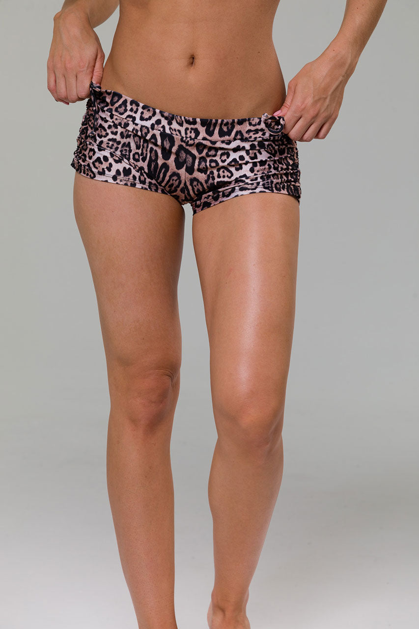 SIDE STRING SHORT - LEOPARD