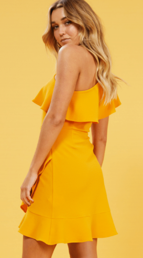 Tangerine Ponte Mini Dress