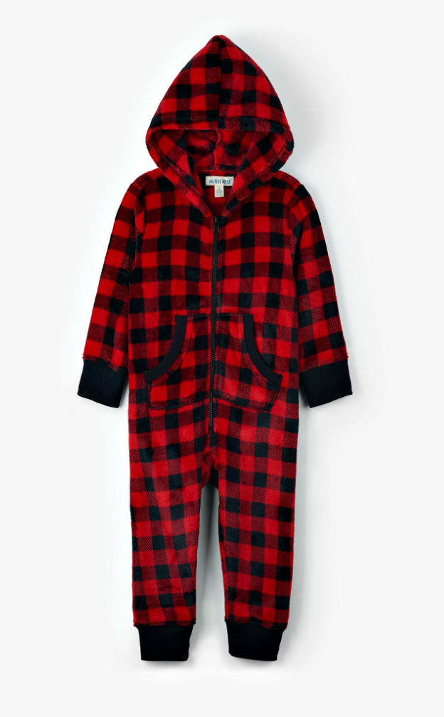 SIZE 10 LEFT Buffalo Plaid Jumpsuit - Kids
