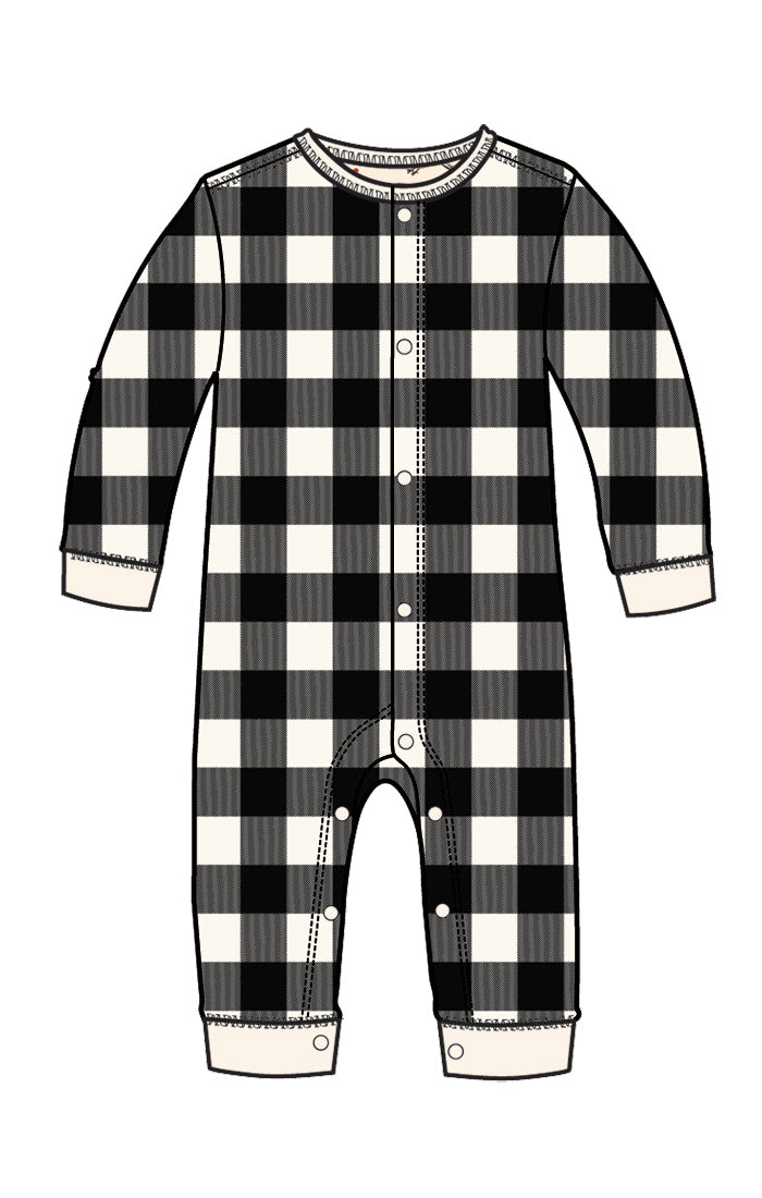 Plaid Baby Union Suit