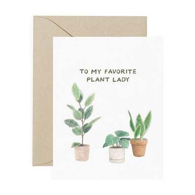 To My Favorite Plant Lady Card - Urban Sprouts