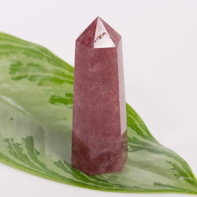 Apothecary Co Crystal Aventurine (Strawberry Quartz) - Polished Point