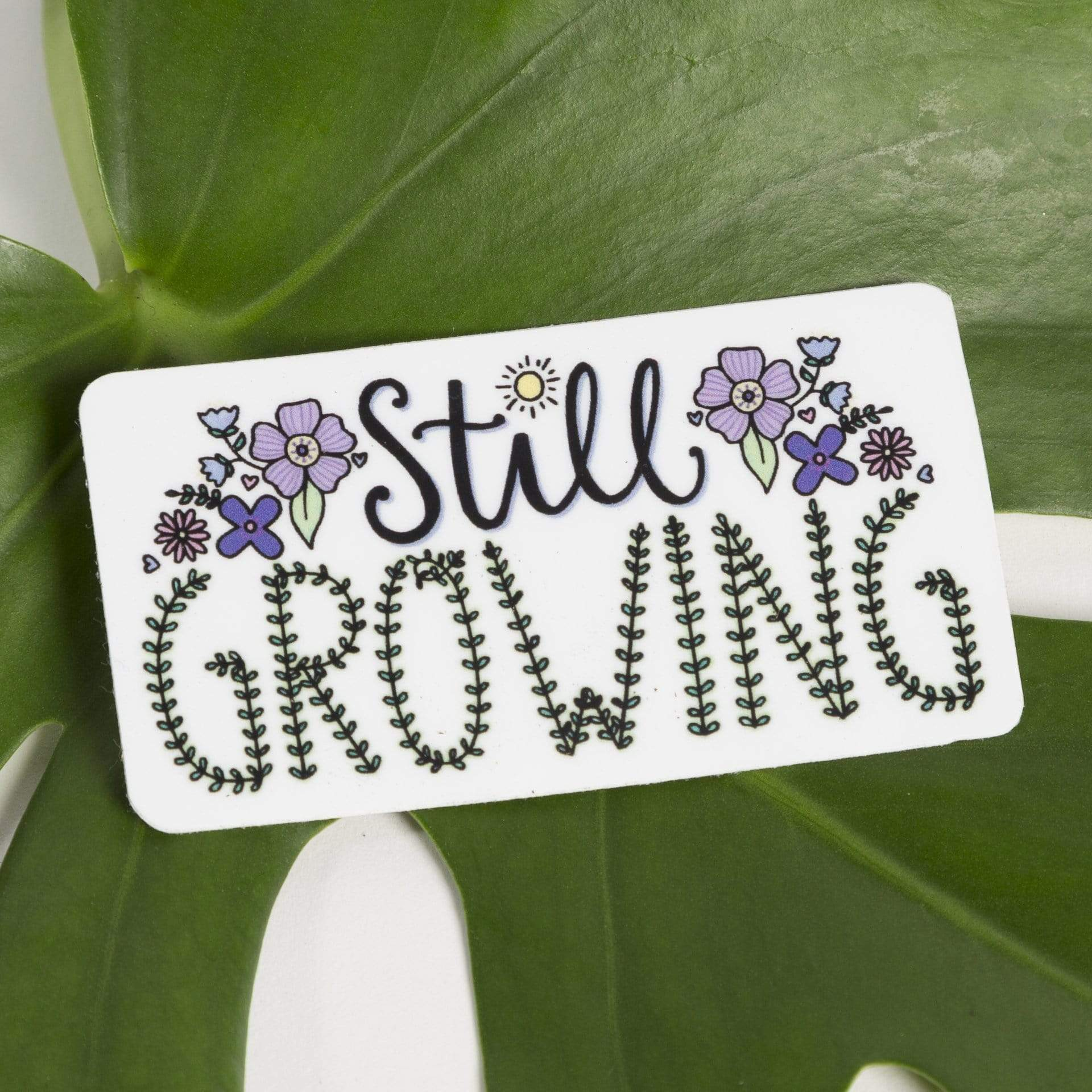Still Growing Flower Sticker - Urban Sprouts