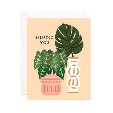Missing You Monstera Card - Urban Sprouts