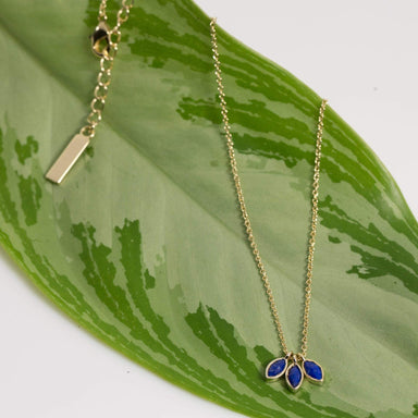 Heilo Jewelry Necklace Gold Lapis Dutchess Necklace