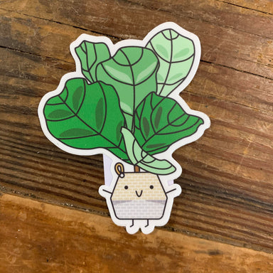 Home By Faith Sticker Fiddle Leaf Fig Sticker