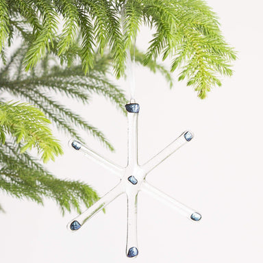 Large Glass Snowflake Ornament - Urban Sprouts