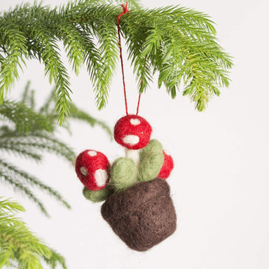 Felted Mushroom Ornament - Urban Sprouts