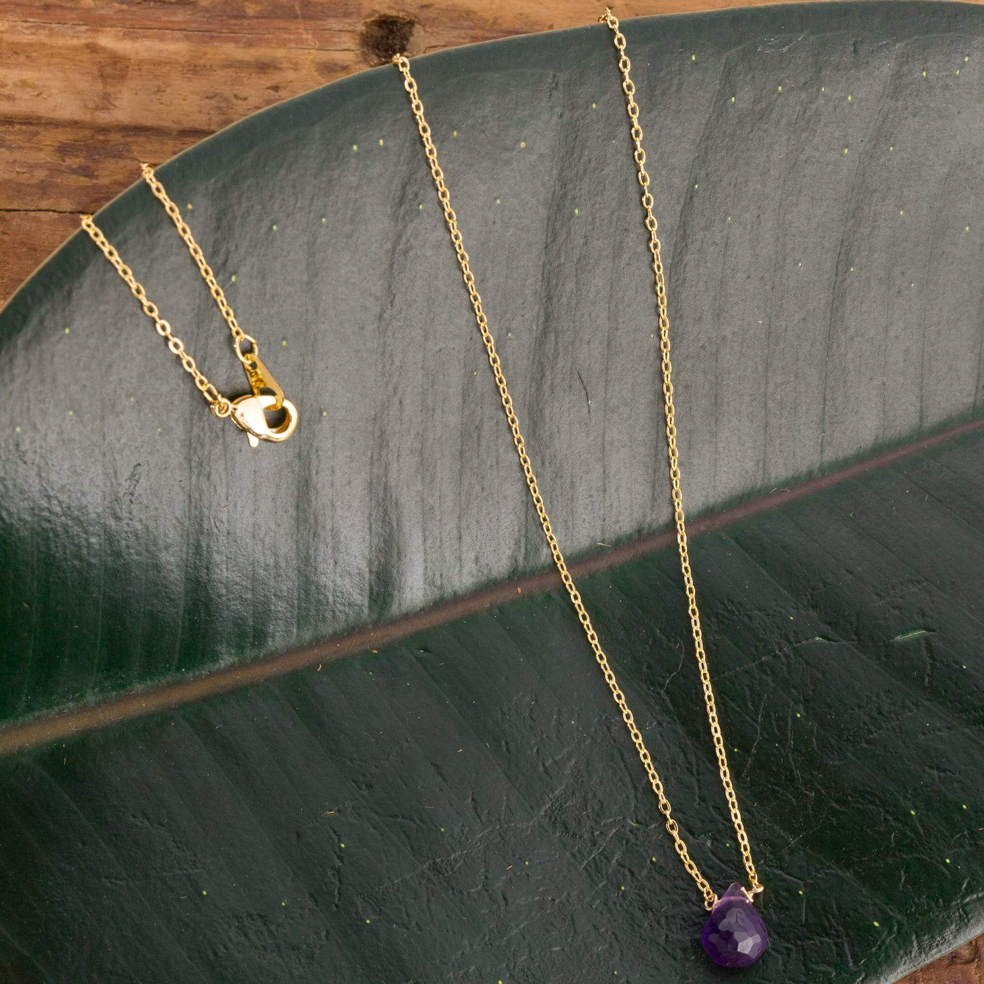 Amethyst Drop Necklace - Urban Sprouts