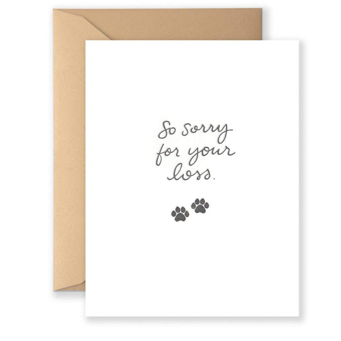 Sorry for your Loss Pet Card - Urban Sprouts