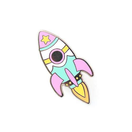 Rocket Pin - Pastel - Urban Sprouts