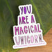 "Magical Unicorn - 3"" vinyl sticker - Urban Sprouts"
