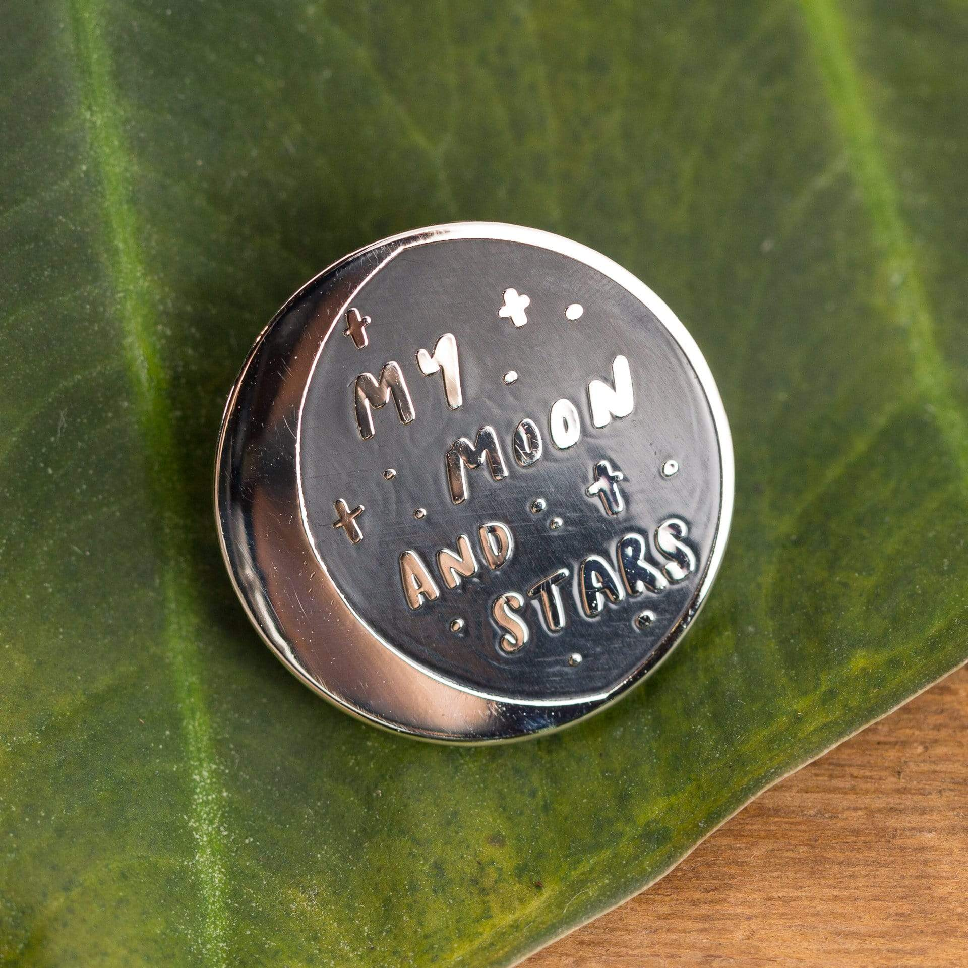 Moon and Stars Enamel Pin - Urban Sprouts