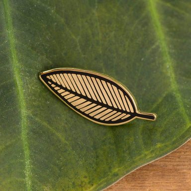 Old English Company Pin Plant Leaf Enamel Pin