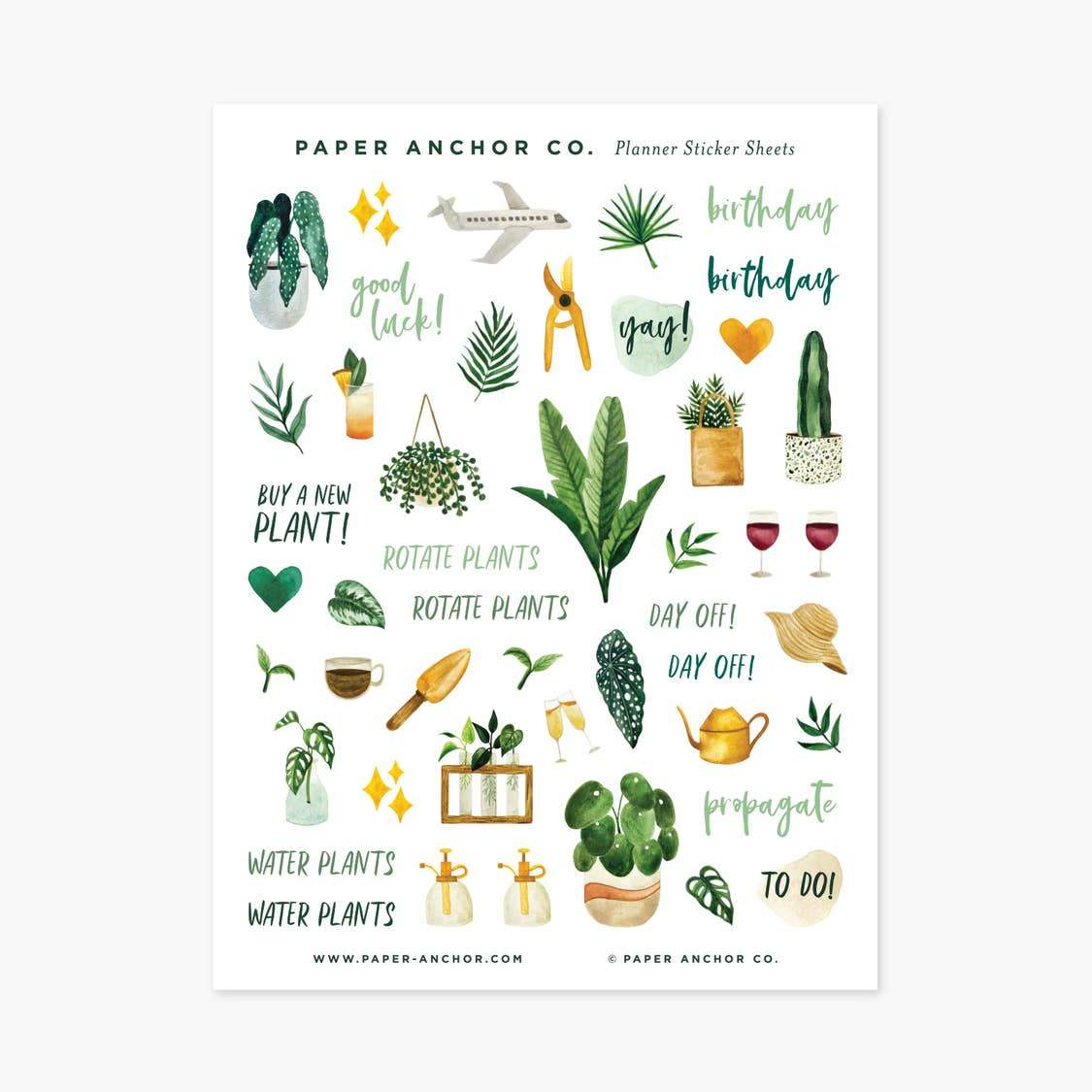 Plant Lover Planner Stickers - Urban Sprouts
