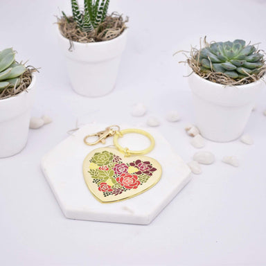 Plant Scouts Keychain Succulent Heart Keychain