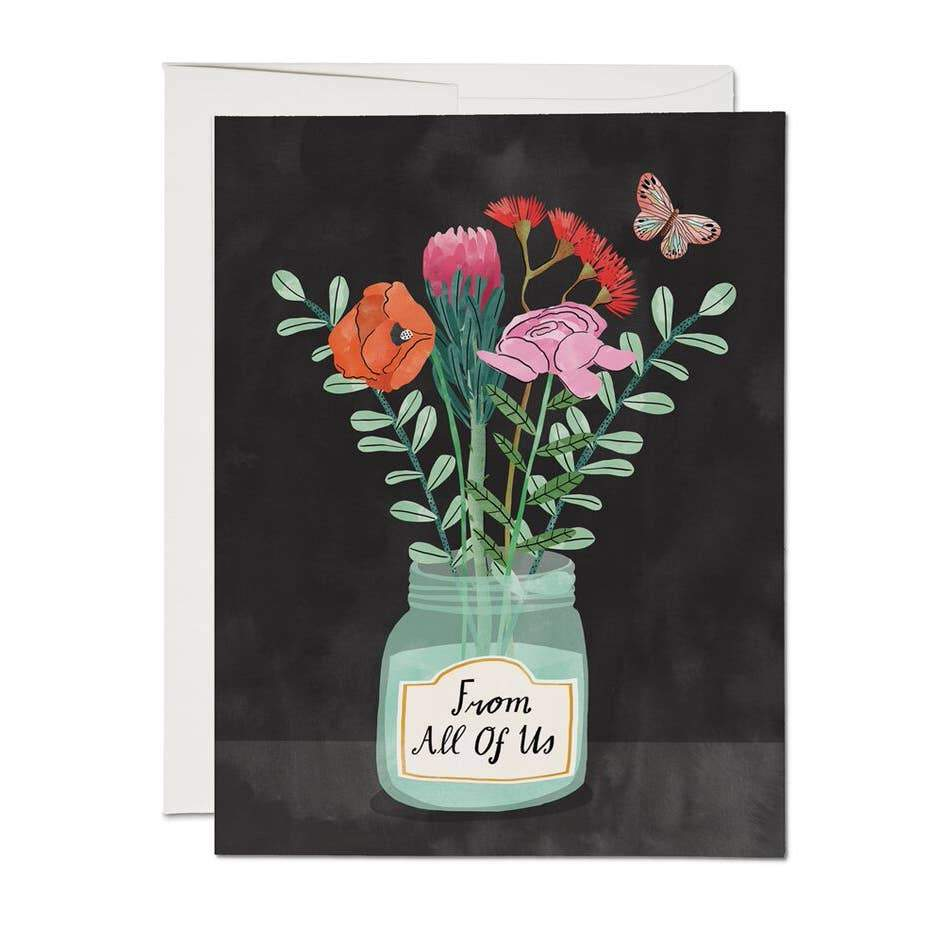 Flowers From All of Us Card - Urban Sprouts