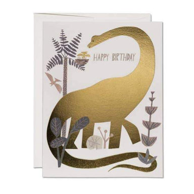 Gold Birthday Dino Card - Urban Sprouts