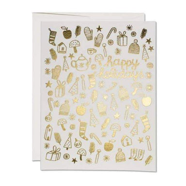 Gold Foil Happy Holidays Card - Urban Sprouts