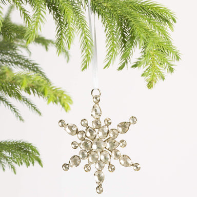 Compact Jeweled Snowflake Ornament - Urban Sprouts