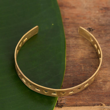 Brass Triangle Cuff Bracelet - Urban Sprouts