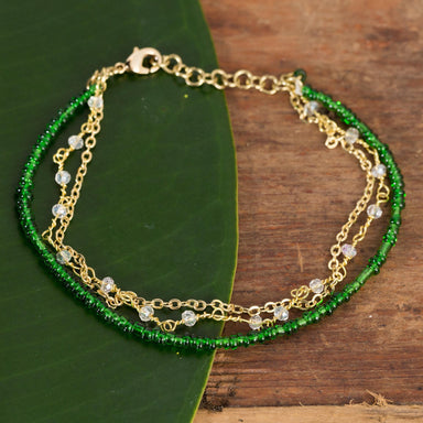 Multi Strand Green Layer Bracelet - Urban Sprouts