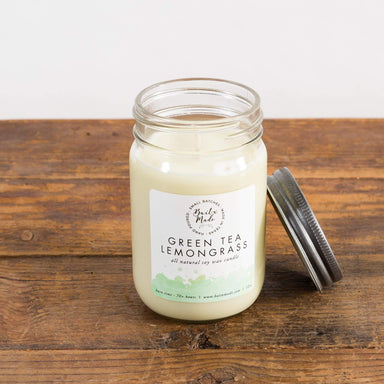 Green Tea Lemongrass Soy Candle - Urban Sprouts