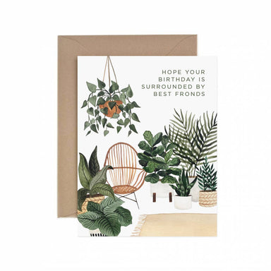 Birthday with Fronds Card - Urban Sprouts