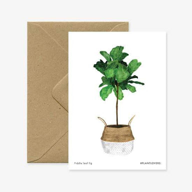 Fiddle Tree Card - Urban Sprouts