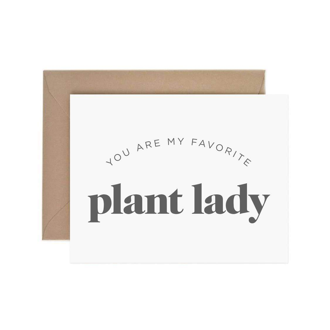 My Favorite Plant Lady Card - Urban Sprouts