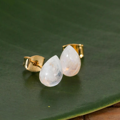 Moonstone Teardrop Studs - Urban Sprouts