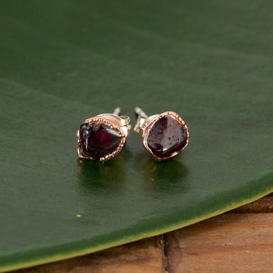 Raw Garnet Studs - Urban Sprouts
