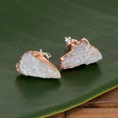 Raw Moonstone Studs - Urban Sprouts