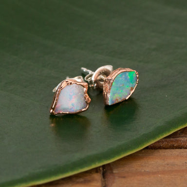 Raw Opal Studs - Urban Sprouts
