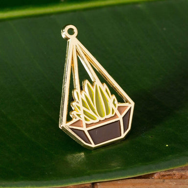 Golden Terrarium Enamel Pin - Urban Sprouts