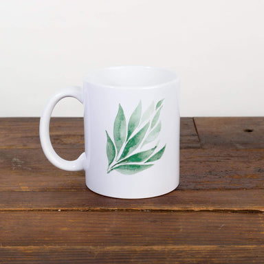 Green Leaf Watercolor Mug - Urban Sprouts