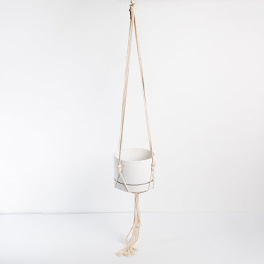Urban Sprouts Hanger Simple Beaded Cotton Macrame Plant Hanger 48""