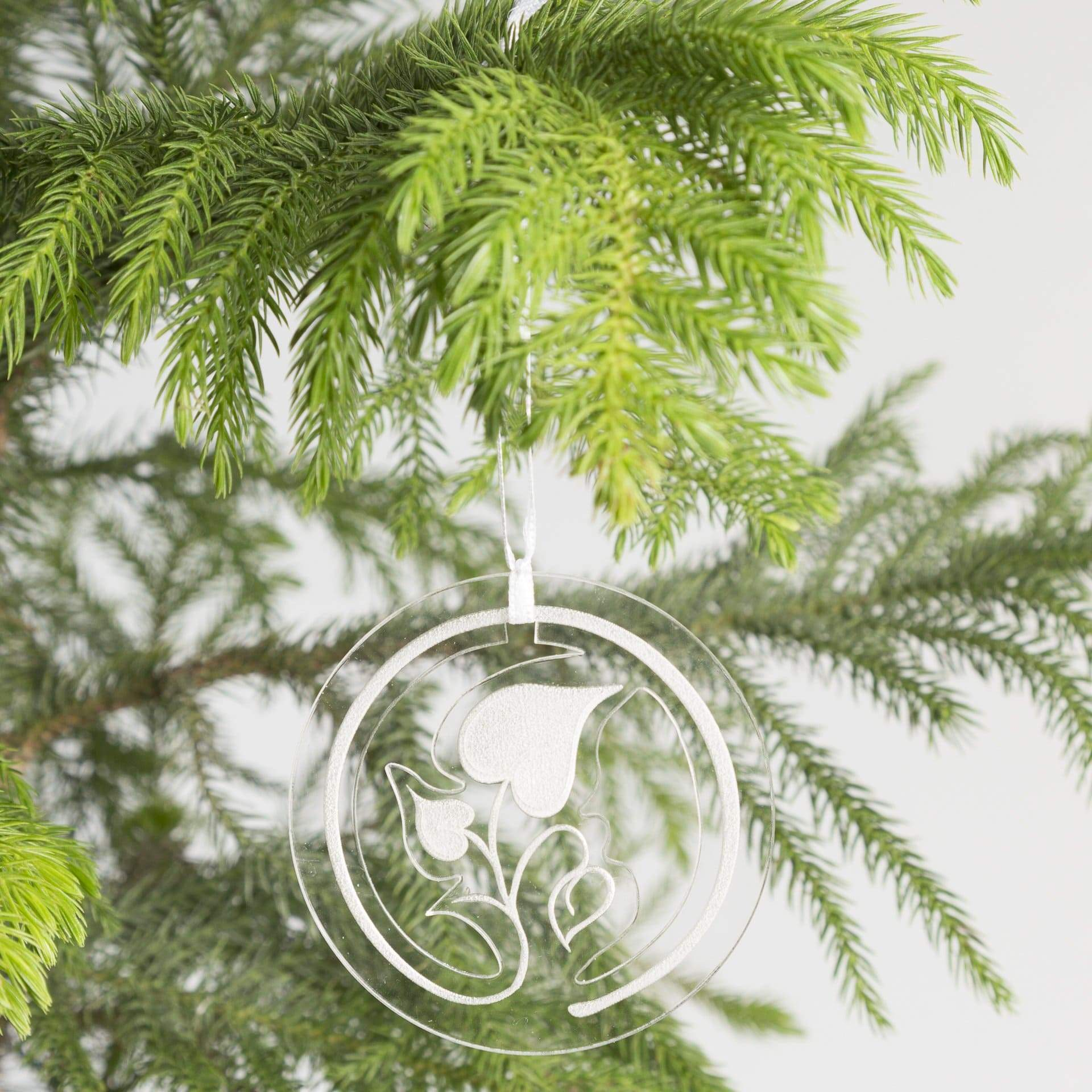 Clear Heart Leaf Ornament - Urban Sprouts