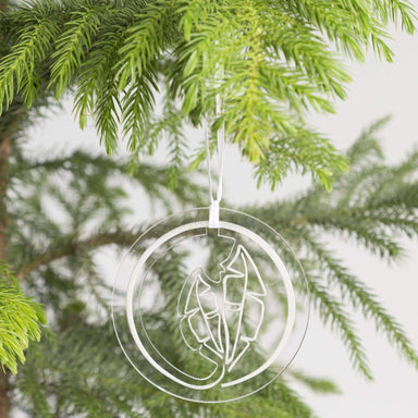 Urban Sprouts Ornament Clear Leaf Ornament