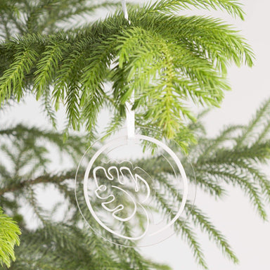 Clear Monstera Leaf Ornament - Urban Sprouts